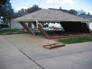 1. Removal of old garage.