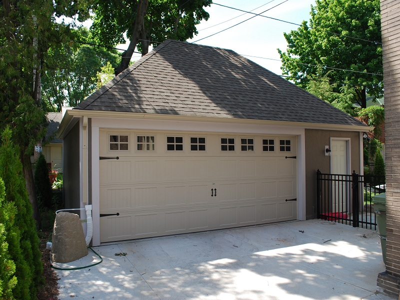 2 car garages classic builders for Hip roof garage